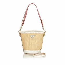 Prada Raffia Bucket Bag
