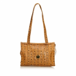 MCM Visetos Leather Tote Bag