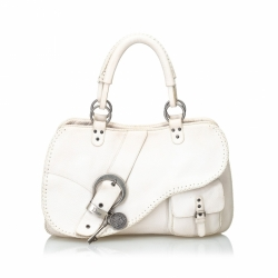 Christian Dior Leather Gaucho Saddle Bag
