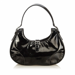 Prada Patent Leather Hobo Bag