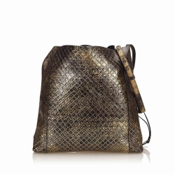 Bottega Veneta Intrecciomirage Leather Shoulder Bag