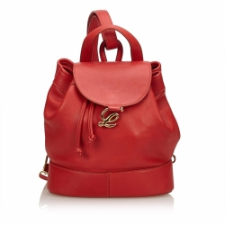 Loewe Leather Drawstring Backpack