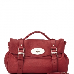 Mulberry Pebbled Leather Alexa Satchel