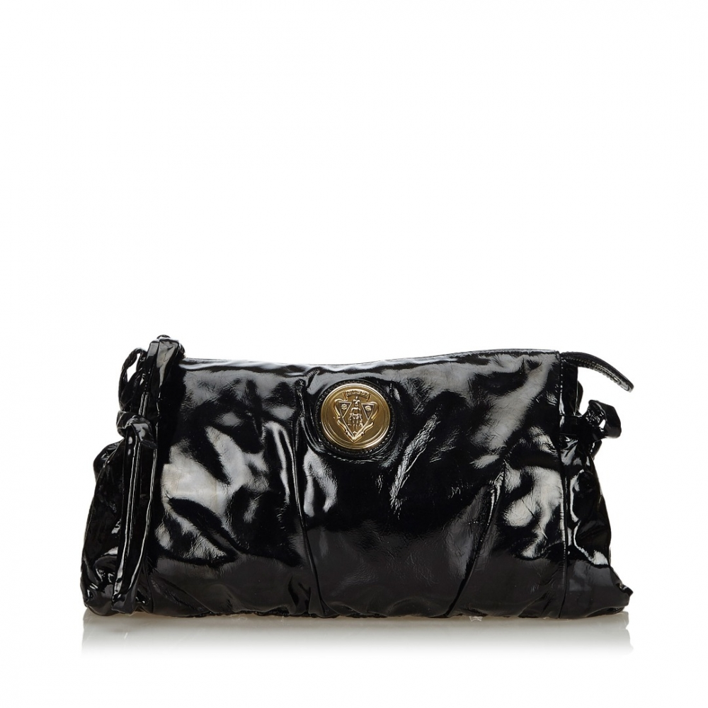 Gucci Patent Leather Hysteria Clutch Bag