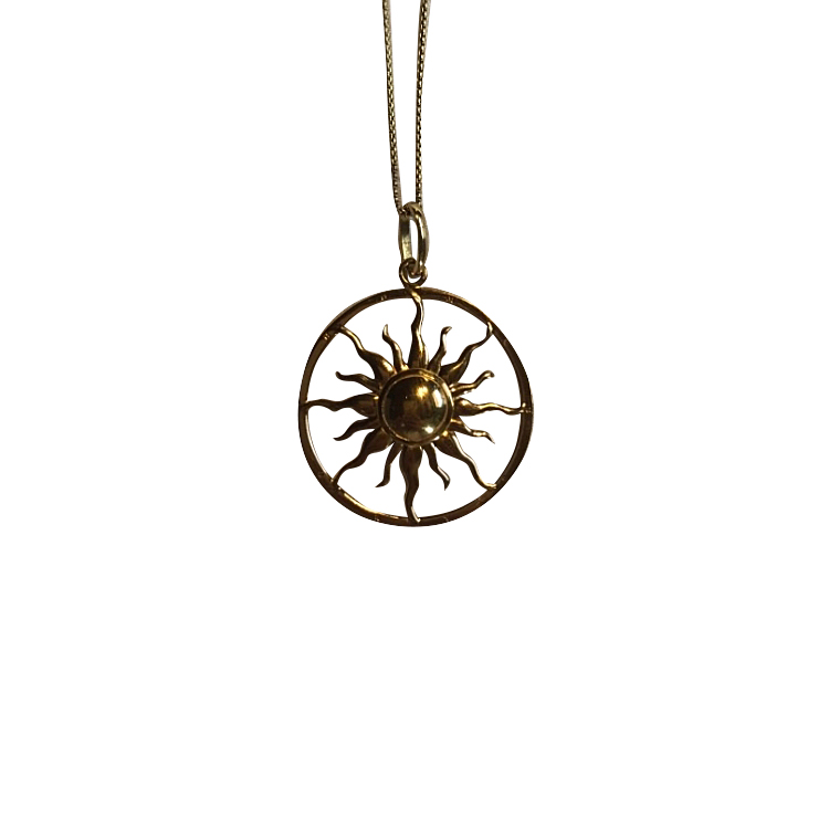 Thomas Sabo Yellow gold plated Sun Pendant & 90cm Round Belcher Chain