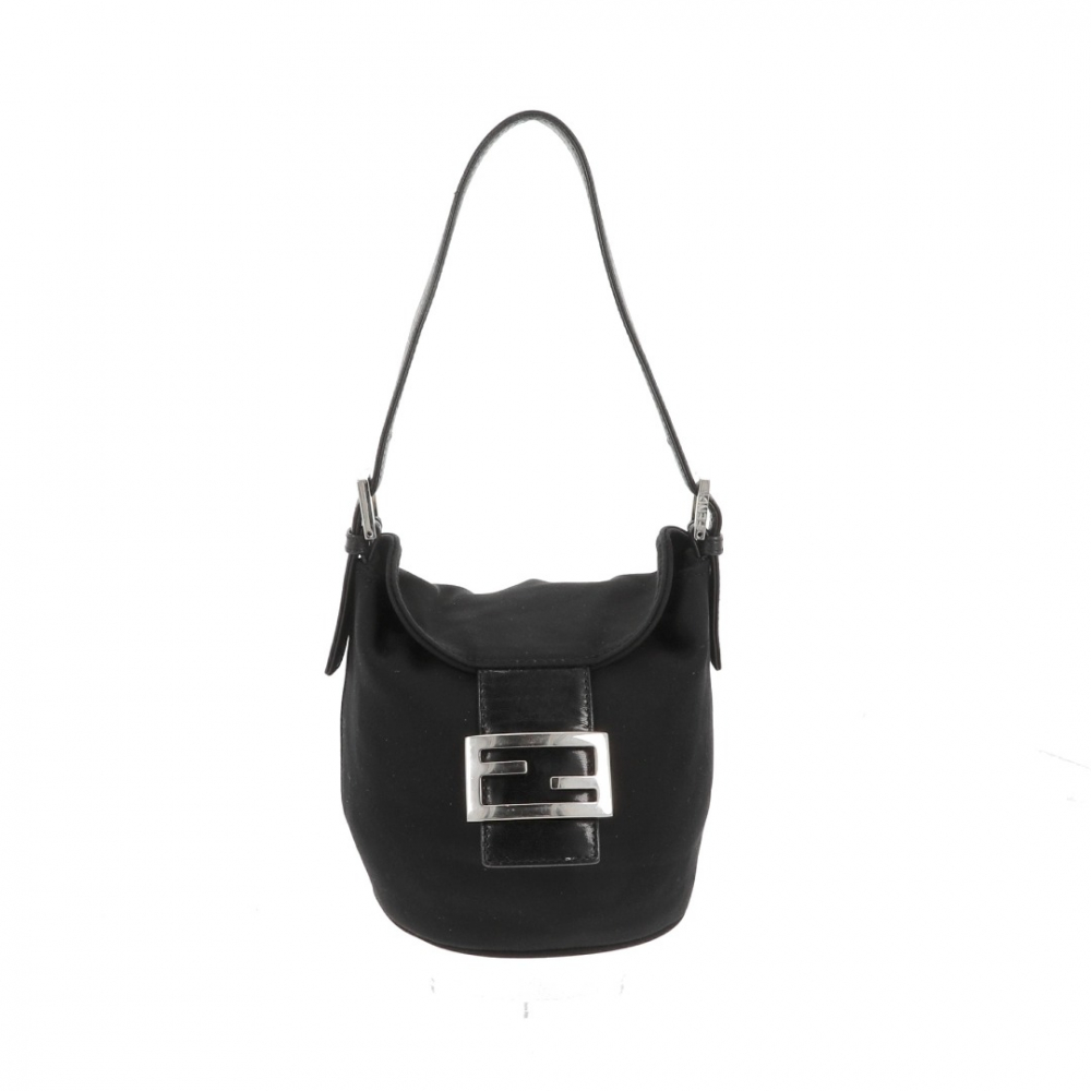 Fendi bucket bag in black jersey
