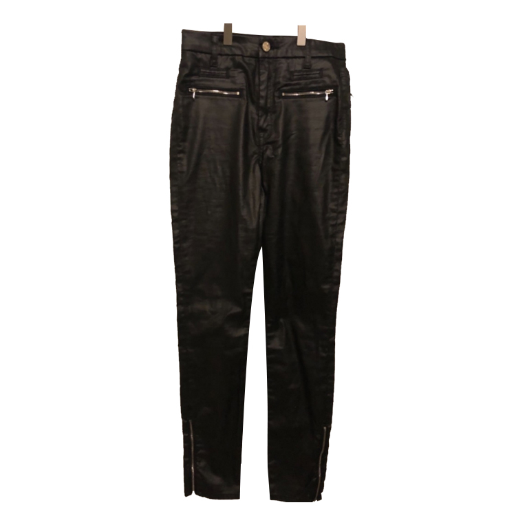 7 For All Mankind NEW black coated jeans (leather-like)