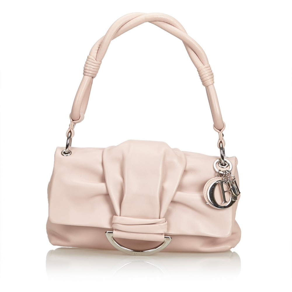 Christian Dior Leather Bow Flap Bag