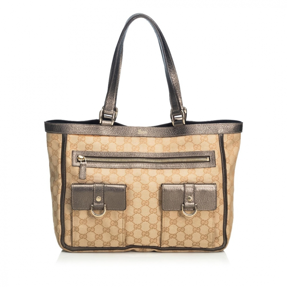 Gucci GG Canvas Abbey Pocket Tote