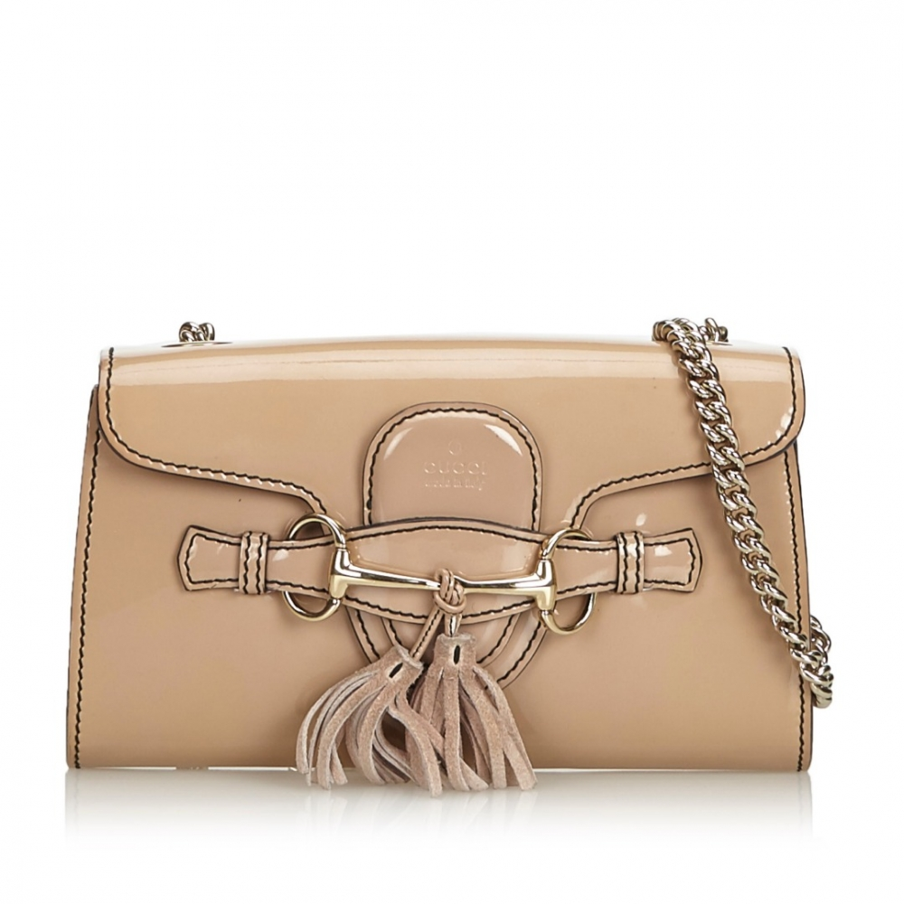 Gucci Patent Leather Small Emily Shoulder Bag