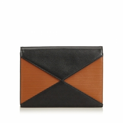 Yves Saint Laurent Leather Bicolor Clutch