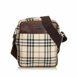 Burberry Plaid Nylon Crossbody Bag