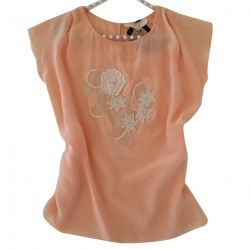 Vanessa Bruno Silk top with embroidery