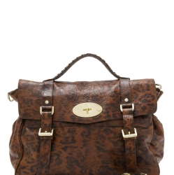 Mulberry Animal Print Leather Alexa Satchel