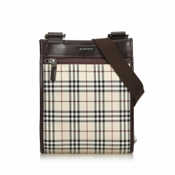 Burberry Nova Check Jacquard Crossbody Bag