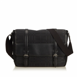 Burberry Plaid Nylon Messenger Bag