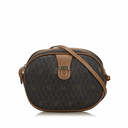 Christian Dior Honeycomb Coated Canvas Crossbody Bag