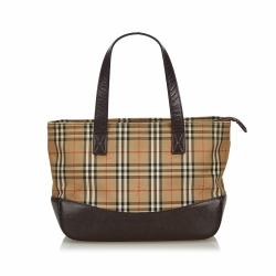 Burberry Haymarket Check Canvas Handbag