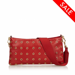 Prada Leather Eyelet Baguette