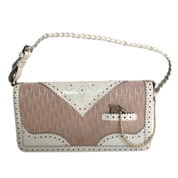 Christian Dior Small pink and white bag Monogram and pearl
