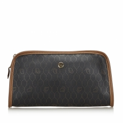Christian Dior Honeycomb Coated Canvas Clutch Bag