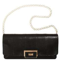 Lanvin  Snake OTYLIE  Shoulder Bag -Black