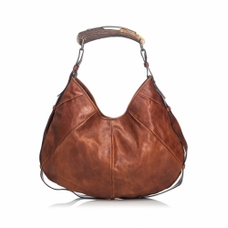 Yves Saint Laurent Leather Mombasa Hobo Bag