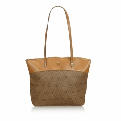 Christian Dior Honeycomb Coated Canvas Shoulder Bag