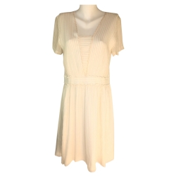 Comptoir Des Cotonniers White dress and golden line