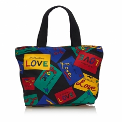 Yves Saint Laurent Love Printed Nylon Handbag