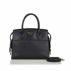 Prada Saffiano Leather Esplanade Tote Bag