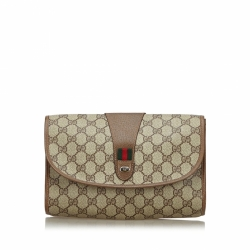 Gucci GG Web Clutch Bag