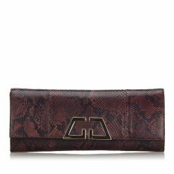 Gucci G Night Python Clutch Bag