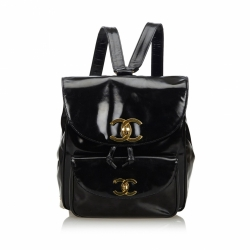 Chanel Patent Leather Drawstring Backpack