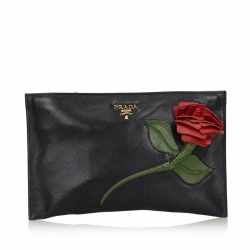 Prada Saffiano Leather Clutch Bag