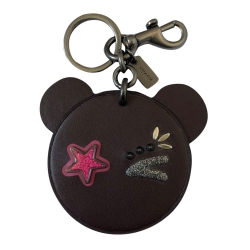 Coach Leather Bag Charm Key Chain