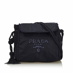 Prada Embellished Nylon Crossbody Bag