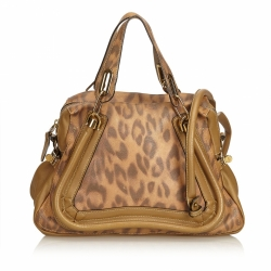 Chloé Leopard-Printed Leather Paraty