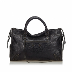 Balenciaga Motocross Leather City Bag