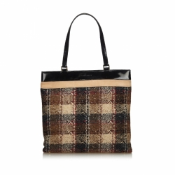 Burberry Wool Tote Bag