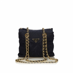 Prada Quilted Nylon Chain Shoulder Bag