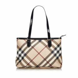 Burberry Supernova Check Tote Bag