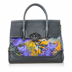 Versace Printed Canvas Palazzo Empire Satchel