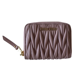 Miu Miu Women Quilted Leather Wallet