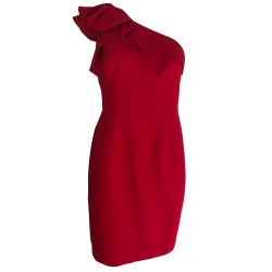 Carmen Marc Valvo Red evening dress