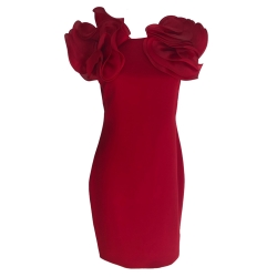 Marchesa Amazing red Night silk dress dress