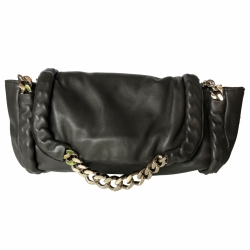 Yves Saint Laurent Charcoal clutch bag