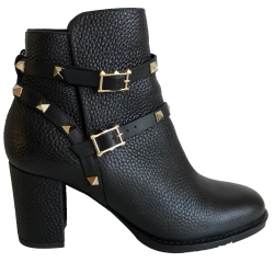 Valentino Grained leather boots 6 cm