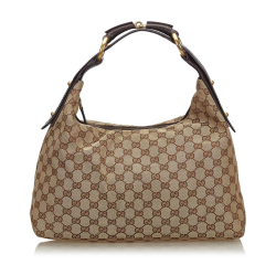 Gucci GG Canvas Horsebit Hobo Bag