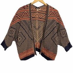 Moth  Jacquard Circle Cardigan.
